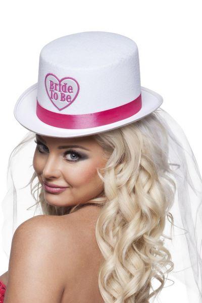 Vrijgezellenfeest Hoed BRIDE TO BE met sluier