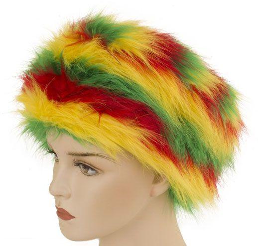 Carnaval Reggae bontmuts rood geel groen