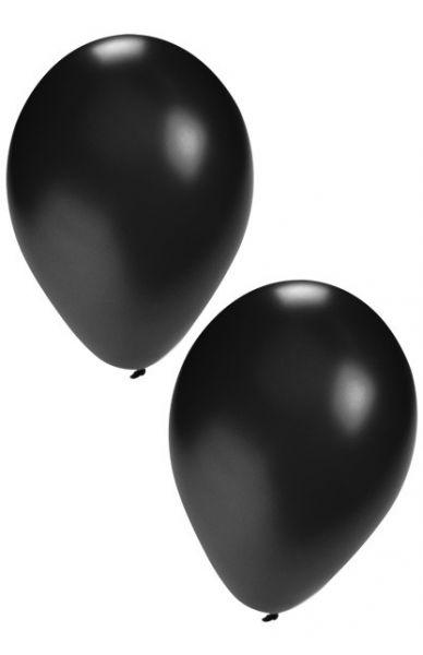 Zwarte heliumballonnen