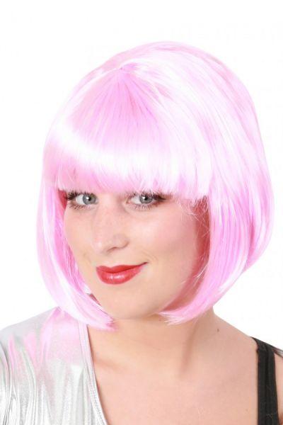 Bobline dames pruik roze sensation