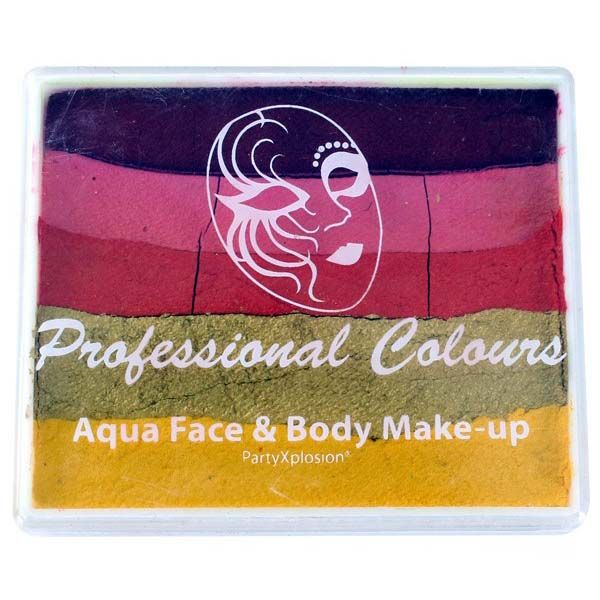PXP splitcake Rood Roze Goud Oranje Metallic Goud Geel
