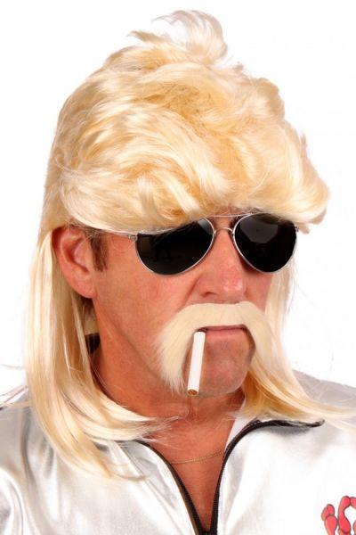 Herenpruik blond met matje