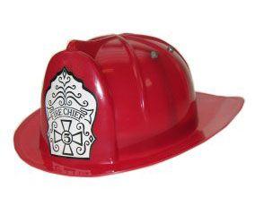 Plastic brandweerhelm rood