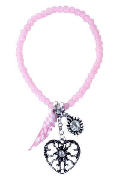 Oktoberfest Dirndl armband kraaltjes roze