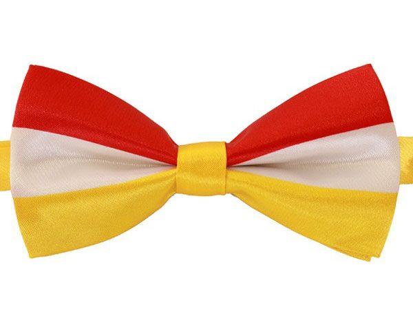 Luxe vlinderstrik rood wit geel Oeteldonk