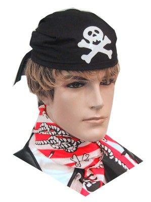 Piraten cap zwart