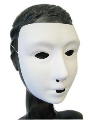 Grimeer masker wit met kalklaag