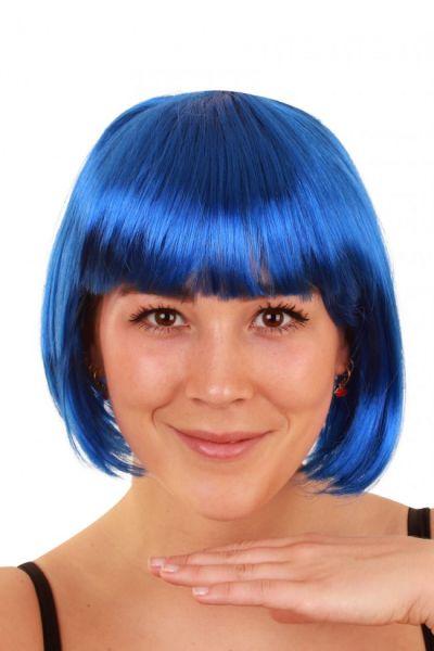 Bobline dames pruik blauw