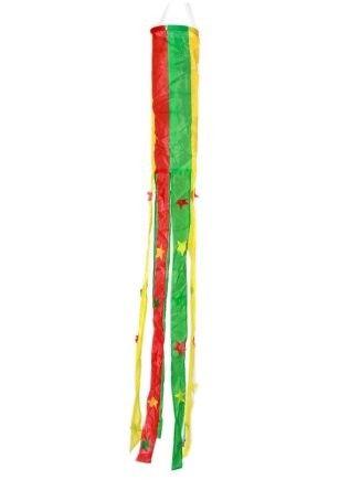 Windsock rood geel groen carnaval