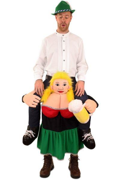 Oktoberfest Piggyback gedragen door Tiroolse Dirndl