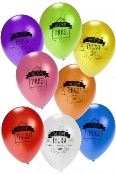 Helium ballon Welkom Thuis metallic