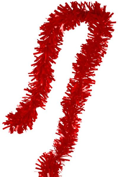 Guirlande Folie gedraaid rood
