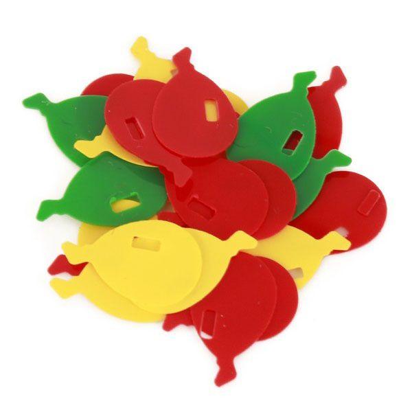 Carnaval Confetti Ballonnetjes 6 mm rood geel groen