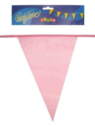 Vlaggenlijn roze 50m feestversiering