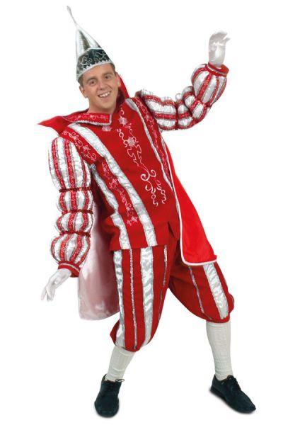 Prins Carnaval kostuum pak rood wit