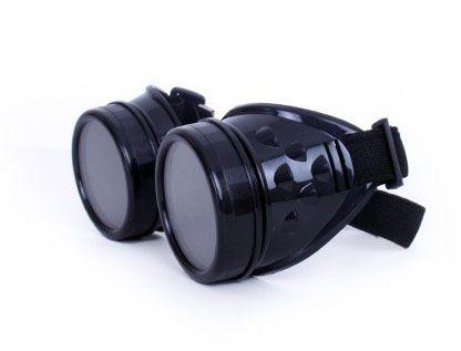 Steampunk Vintage goggles bril zwart
