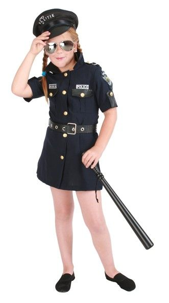 Caranvalskleding Meisjes politie jurk kostuum