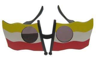 Bril vlag Oeteldonk rood wit geel