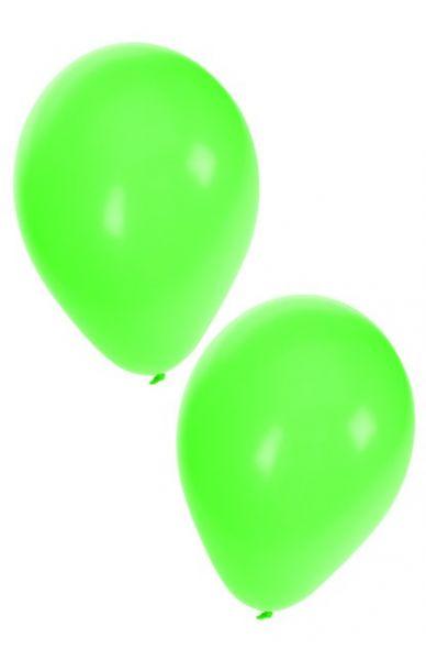 Groene heliumballonnen
