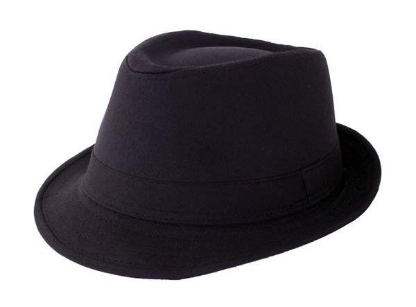 Trendy gangsterhoed zwart