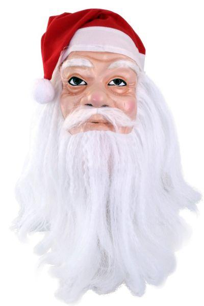 Masker Kerstman met muts en baard