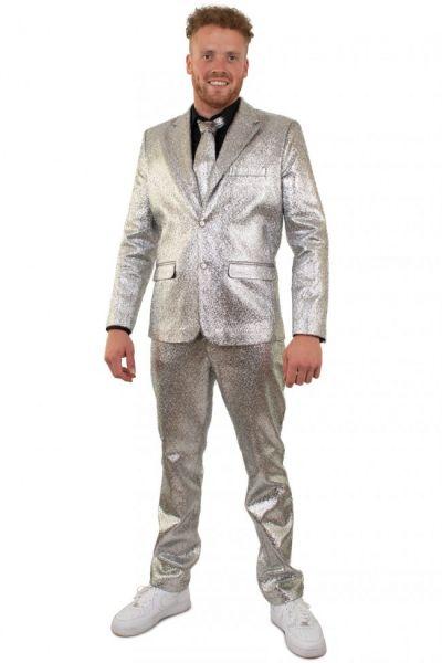 Zilver blits discokostuum metallic