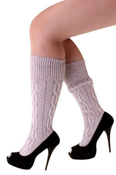 Oktoberfest Tiroler sokken kort grijs