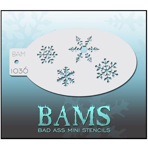 Bad Ass BAM schmink sjablonen 1036 sneeuw
