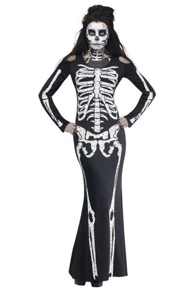 Halloween Skelet botten jurk