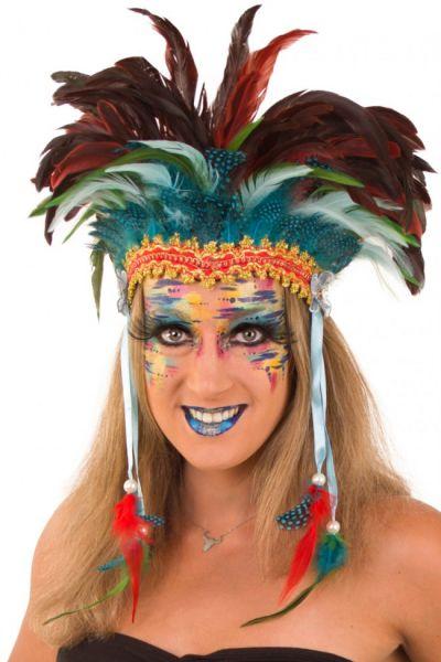 Indianen dans veren hoofdtooi Pawnee