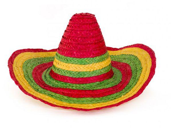 Mexicaanse kleurrijke strohoed