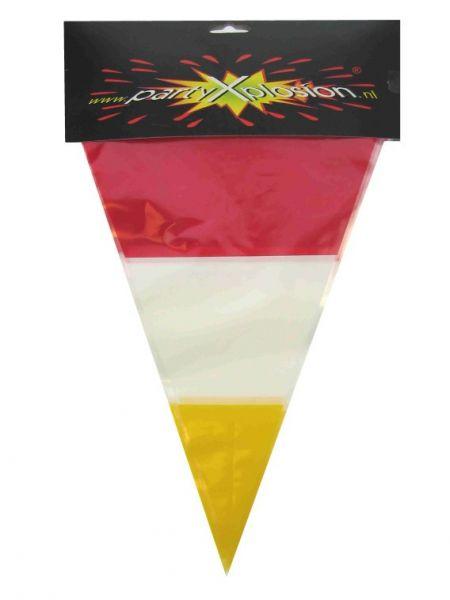 Vlaggenlijn rood wit geel Oeteldonk
