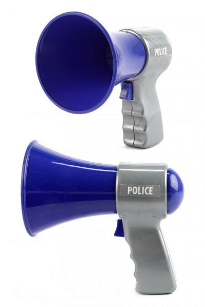 Politie megafoon blauw grijs