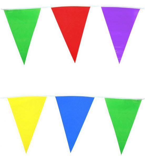 Gekleurde vlaggenlijn mix aan kleuren 60m