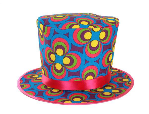Fleurige Flower Power hoed