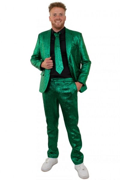 Blits groen discokostuum metallic