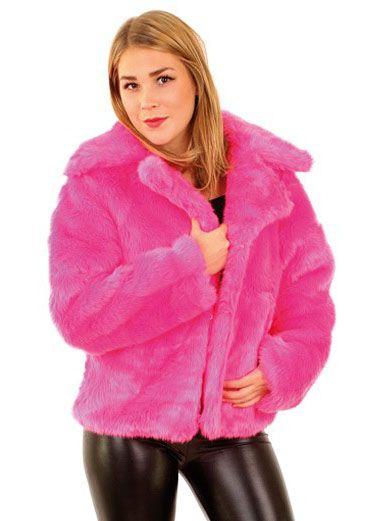 Carnavalsjas Dames Bontjas fluor pink