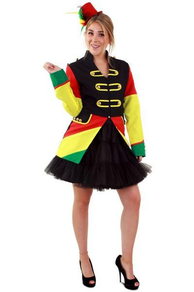 Carnavalsjas Limburg rood geel groen dames