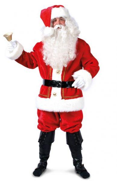 Luxe Kerstman kostuum pak rood wit kerst