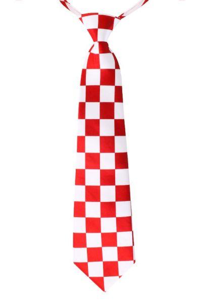 Brabants Stropdas rood wit geblokt