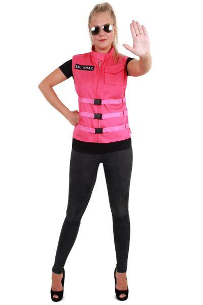 SO WHAT roze dames vest pink