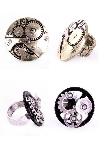 Paar Steampunk ringen