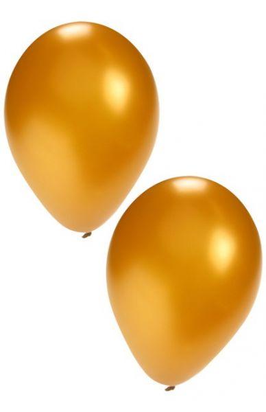 Gouden heliumballonnen
