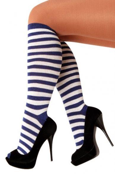 Sokken blauw wit gestreept