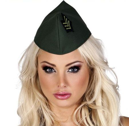 Soldaten cap schuitje voor dames