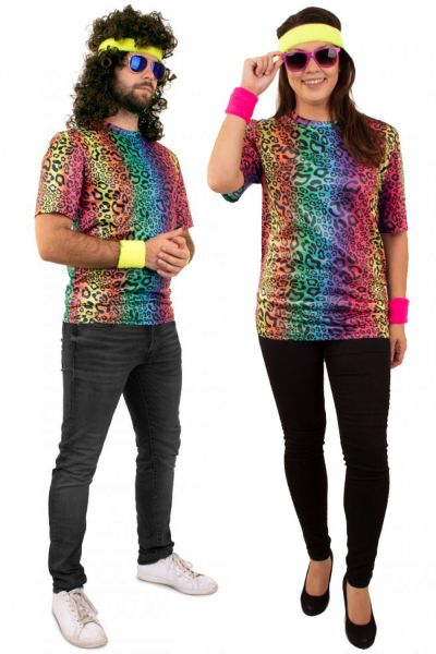 Hippie neon T-shirt panterprint