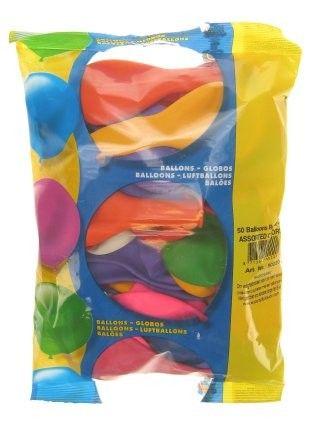 Helium ballonnen 50 stuks assortie kleuren