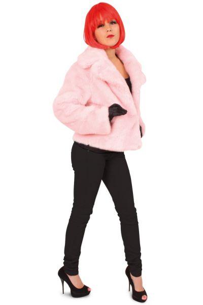Foute roze carnavalsjas dames bontjas