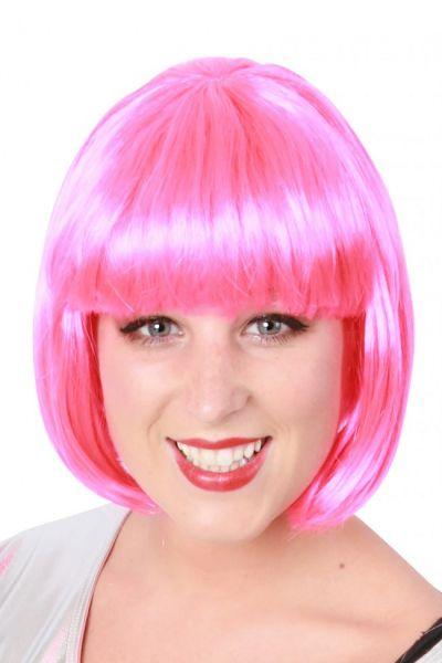 Pruik Bobline pink
