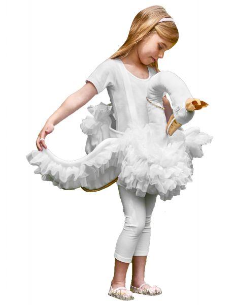 Op de rug van een zwaan kostuum voor meisjes